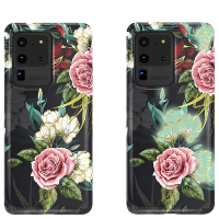 Чехол Kingxbar Spring для Galaxy S20 Ultra White/Pink Flower